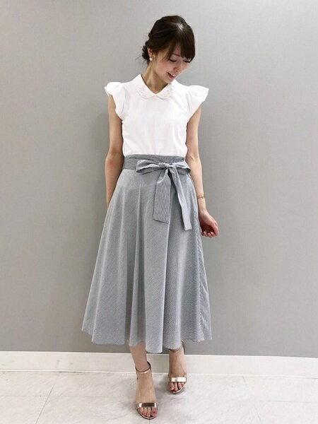清楚なお嬢様コーディネート ef-deの夏ファッションが可愛い♡