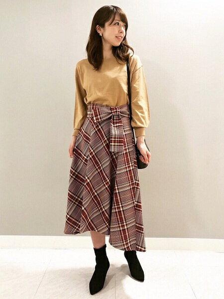 ef-deの《Maglieparef-de》リボンベルトチェックフレアスカートを使ったコーディネートを紹介します。|Rakuten Fashion(楽天ファッション/旧楽天ブランドアベニュー)40955
