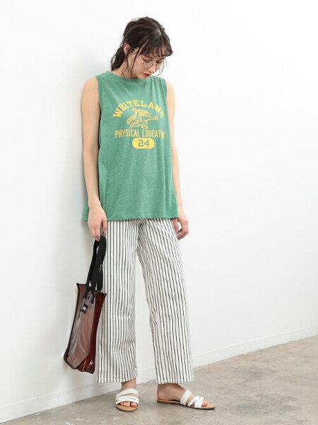 Adam et Rope' Le Magasinの【Champion】ノースリーブTシャツを使ったコーディネートを紹介します。|Rakuten Fashion(楽天ファッション/旧楽天ブランドアベニュー)33152