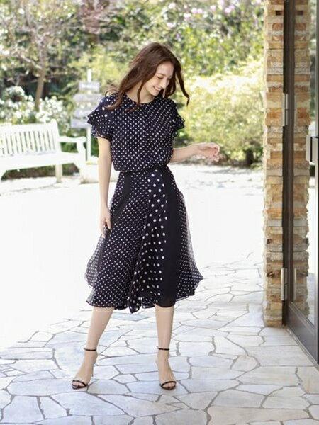 AMACAのミックスドットスカートを使ったコーディネートを紹介します。 Rakuten Fashion(楽天ファッション/旧楽天ブランドアベニュー)35996