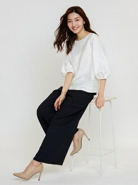 AMACAのラッセルレースコンビブラウスを使ったコーディネートを紹介します。|Rakuten Fashion(楽天ファッション/旧楽天ブランドアベニュー)35999
