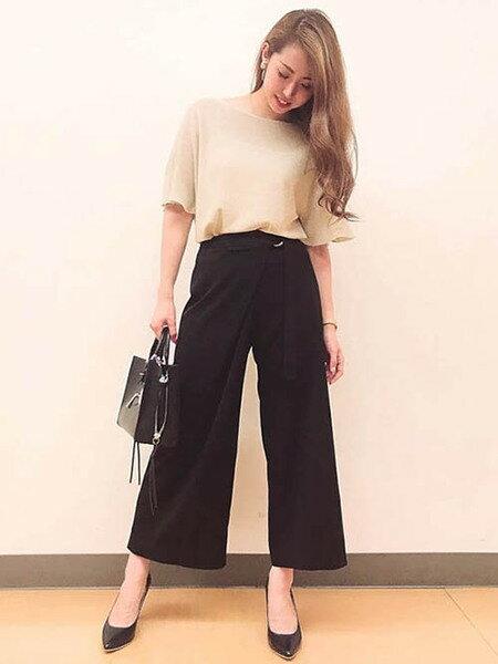 Viaggio Bluの≪BEVINI≫サイドファスナーコンビバッグを使ったコーディネートを紹介します。|Rakuten Fashion(楽天ファッション/旧楽天ブランドアベニュー)38624