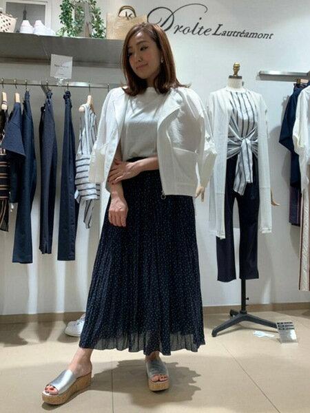 Droitelautreamontの【雑誌掲載】カラードットプリントスカートを使ったコーディネートを紹介します。|Rakuten Fashion(楽天ファッション/旧楽天ブランドアベニュー)37384