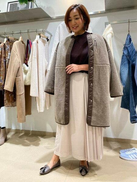 Droitelautreamontのスウェット風ニットプルオーバーを使ったコーディネートを紹介します。|Rakuten Fashion(楽天ファッション/旧楽天ブランドアベニュー)41353