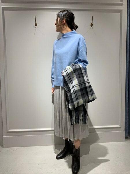 SHARE PARKのカシミヤタッチチェックストールを使ったコーディネートを紹介します。|Rakuten Fashion(楽天ファッション/旧楽天ブランドアベニュー)41260