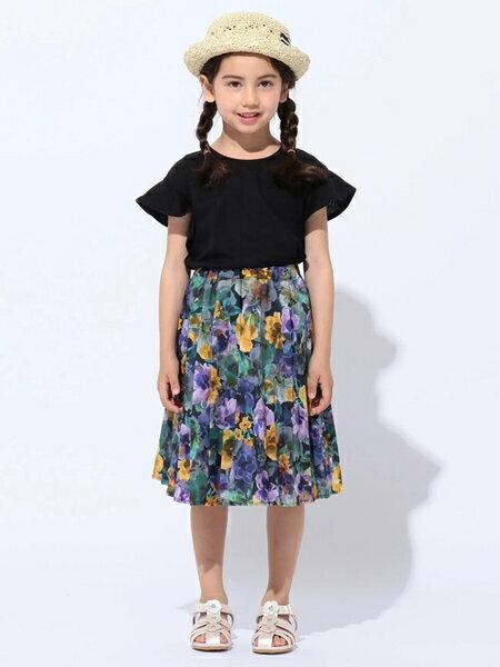 any FAMの【KIDS】OYAKO-DE 花柄プリント スカートを使ったコーディネートを紹介します。|Rakuten Fashion(楽天ファッション/旧楽天ブランドアベニュー)36477