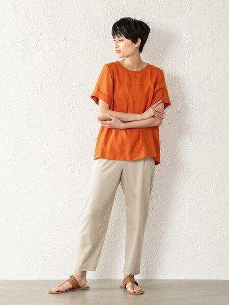 EVEX by KRIZIAの【ウォッシャブル】フィブリルサテンストレッチパンツを使ったコーディネートを紹介します。|Rakuten Fashion(楽天ファッション/旧楽天ブランドアベニュー)35891