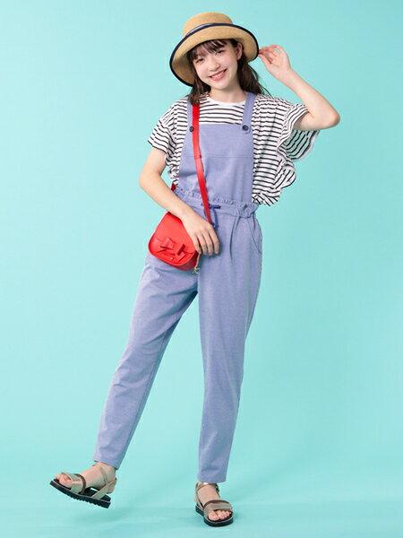 組曲の【150~160cm】ピッケストライプサロペット(ブルー)を使ったコーディネートを紹介します。|Rakuten Fashion(楽天ファッション/旧楽天ブランドアベニュー)34850
