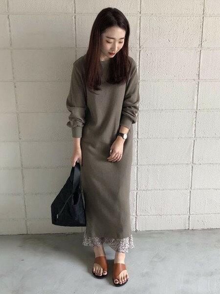 Bou Jeloudのサーマルワンピースを使ったコーディネートを紹介します。|Rakuten Fashion(楽天ファッション/旧楽天ブランドアベニュー)40922