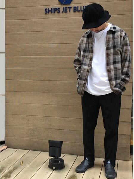 SHIPSのSHIPSJETBLUE:チェックシャツカバーオールを使ったコーディネートを紹介します。|Rakuten Fashion(楽天ファッション/旧楽天ブランドアベニュー)40765