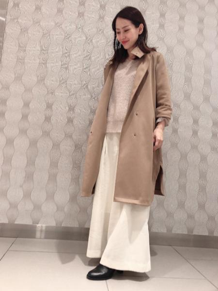LAUTREAMONTの2タック入りのボリュームワイドパンツを使ったコーディネートを紹介します。|Rakuten Fashion(楽天ファッション/旧楽天ブランドアベニュー)1000028