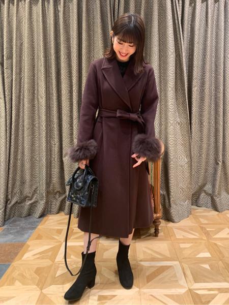 GRACE CONTINENTALのスタンドカラーレース切替ワンピースを使ったコーディネートを紹介します。|Rakuten Fashion(楽天ファッション/旧楽天ブランドアベニュー)1000057