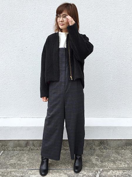 EUCLAIDのフェイクボアノーカラージャケットを使ったコーディネートを紹介します。|Rakuten Fashion(楽天ファッション/旧楽天ブランドアベニュー)1000465