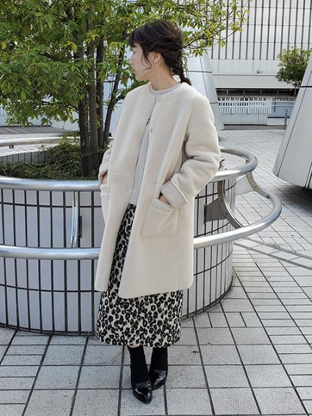 Rose Tiaraのムートンボアリバーシブルコートを使ったコーディネートを紹介します。 Rakuten Fashion(楽天ファッション/旧楽天ブランドアベニュー)1000506