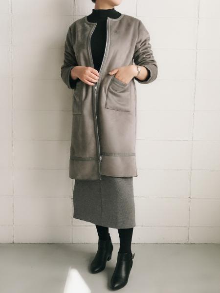 Bou Jeloudのフェイクムートンリバーシブルコートを使ったコーディネートを紹介します。|Rakuten Fashion(楽天ファッション/旧楽天ブランドアベニュー)1000523