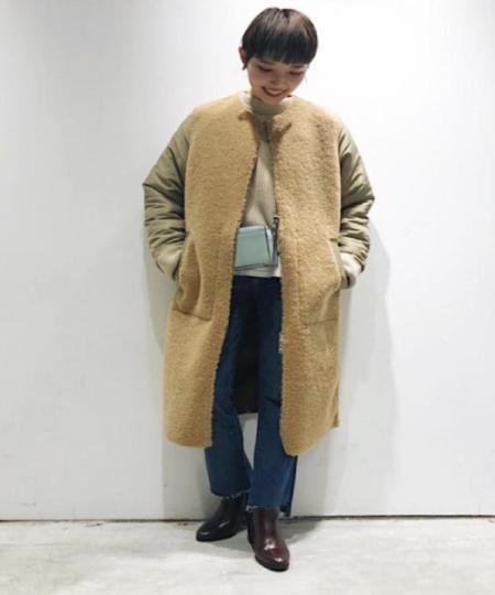 ADAM ET ROPE'の山形両畦モックネックプルオーバーを使ったコーディネートを紹介します。 Rakuten Fashion(楽天ファッション/旧楽天ブランドアベニュー)1000560