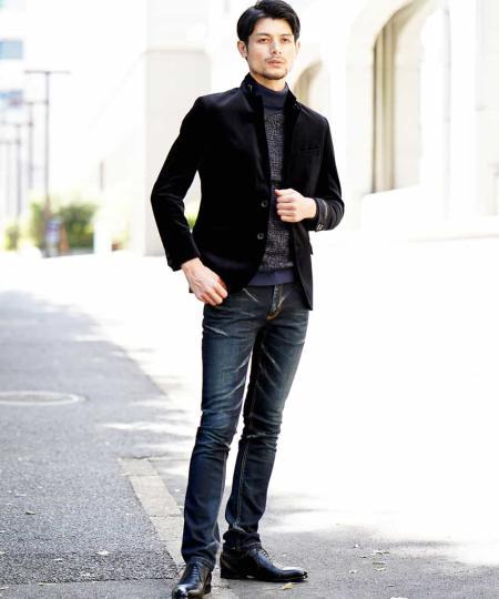 MICHEL KLEIN HOMMEのジャケット(VELLUTO)を使ったコーディネートを紹介します。|Rakuten Fashion(楽天ファッション/旧楽天ブランドアベニュー)1000698
