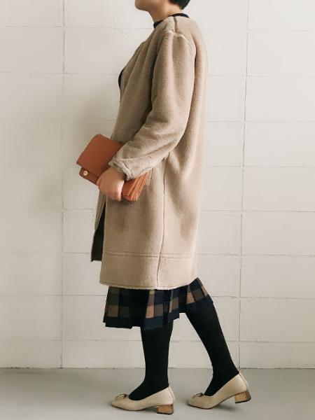 Bou Jeloudのチェック柄ジャガードニットOPを使ったコーディネートを紹介します。|Rakuten Fashion(楽天ファッション/旧楽天ブランドアベニュー)1000844