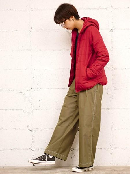 GIORDANOのパデットフードジャケット(中綿)を使ったコーディネートを紹介します。|Rakuten Fashion(楽天ファッション/旧楽天ブランドアベニュー)1001378
