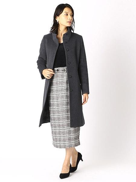 COMME CA ISMのアンゴラスタンドカラーウールコートを使ったコーディネートを紹介します。|Rakuten Fashion(楽天ファッション/旧楽天ブランドアベニュー)1002466