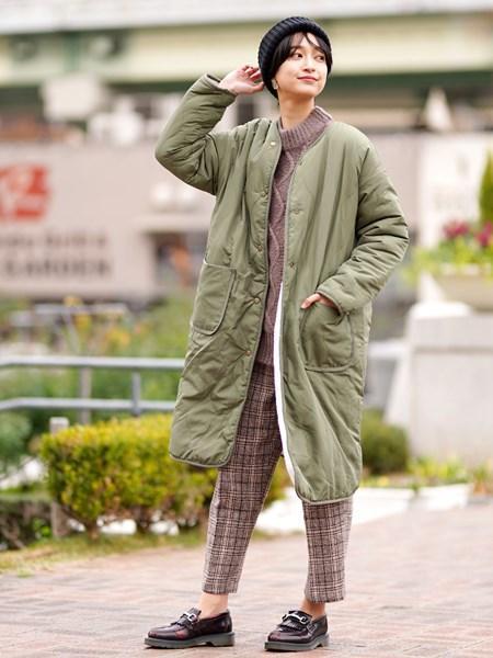 GIORDANOの(L)ベルトSETチェックワイドパンツを使ったコーディネートを紹介します。|Rakuten Fashion(楽天ファッション/旧楽天ブランドアベニュー)1002489