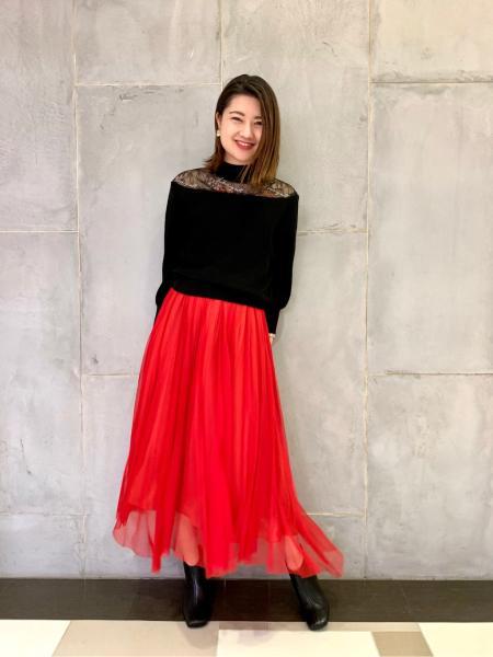 GRACE CONTINENTALのサングラスレースニットトップを使ったコーディネートを紹介します。|Rakuten Fashion(楽天ファッション/旧楽天ブランドアベニュー)1002639