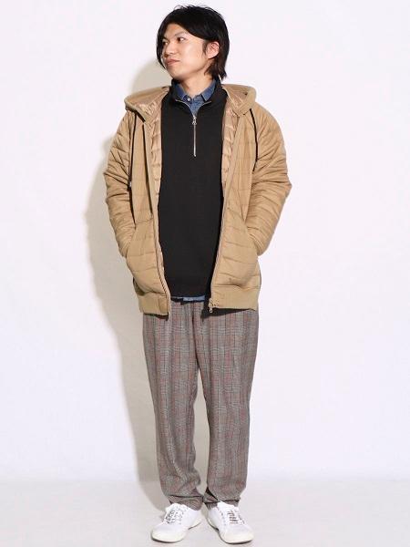 COMME CA ISMの中綿キルティングパーカーを使ったコーディネートを紹介します。|Rakuten Fashion(楽天ファッション/旧楽天ブランドアベニュー)1003442