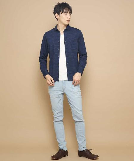 MK MICHEL KLEIN hommeのパンツ/ストレッチデニムを使ったコーディネートを紹介します。 Rakuten Fashion(楽天ファッション/旧楽天ブランドアベニュー)1003483