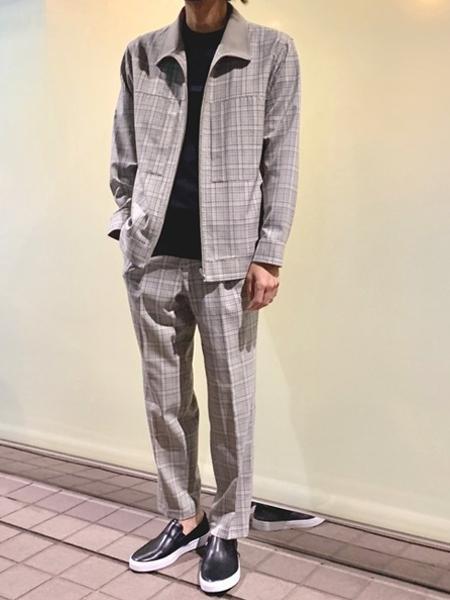 ABAHOUSEのライトウールスリムテーパード チェックパンツを使ったコーディネートを紹介します。|Rakuten Fashion(楽天ファッション/旧楽天ブランドアベニュー)1004426