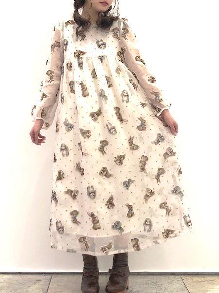 franche lippeeのfranche lippee/バニーワンピースを使ったコーディネートを紹介します。|Rakuten Fashion(楽天ファッション/旧楽天ブランドアベニュー)1004588