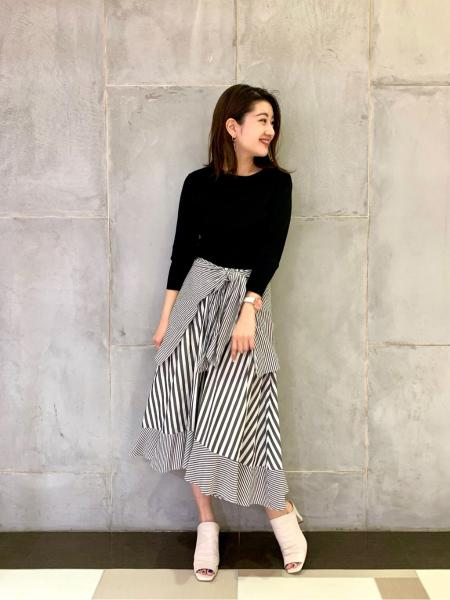 GRACE CONTINENTALのニットコンビノットワンピースを使ったコーディネートを紹介します。|Rakuten Fashion(楽天ファッション/旧楽天ブランドアベニュー)1006340