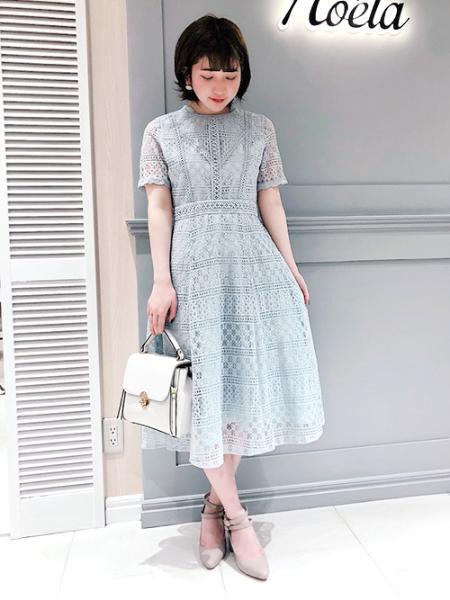 Noelaのスプリングレースワンピースを使ったコーディネートを紹介します。|Rakuten Fashion(楽天ファッション/旧楽天ブランドアベニュー)1006720
