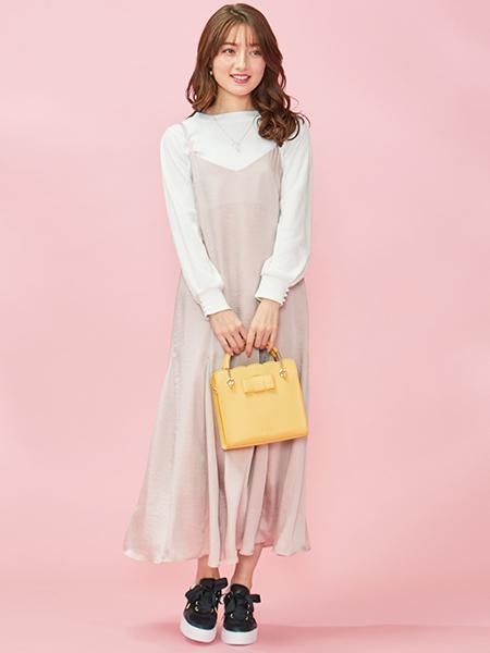Ferouxの【洗える】サテンキャミ ドレスを使ったコーディネートを紹介します。|Rakuten Fashion(楽天ファッション/旧楽天ブランドアベニュー)1007212