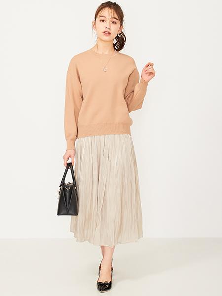 Ferouxの【洗える】スウェーティーニットを使ったコーディネートを紹介します。|Rakuten Fashion(楽天ファッション/旧楽天ブランドアベニュー)1007260