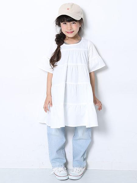 devirockのティアード半袖ワンピースを使ったコーディネートを紹介します。|Rakuten Fashion(楽天ファッション/旧楽天ブランドアベニュー)1007494