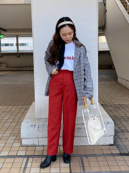 WEGOのWEGO/(L)カラーセンタープレスパンツを使ったコーディネートを紹介します。|Rakuten Fashion(楽天ファッション/旧楽天ブランドアベニュー)1008320