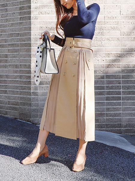 The Virgniaの変形リブニットを使ったコーディネートを紹介します。|Rakuten Fashion(楽天ファッション/旧楽天ブランドアベニュー)1008661