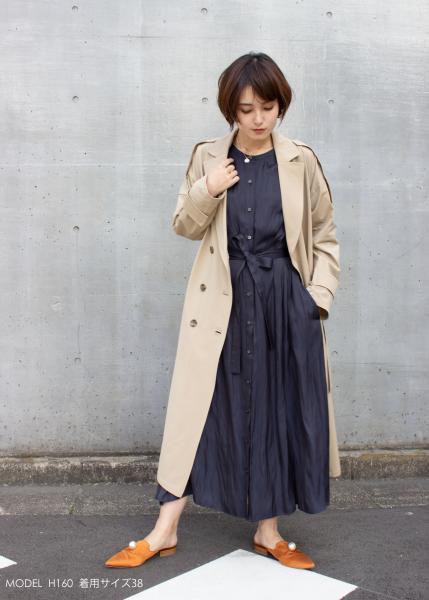 plein de vieのpleindevie/ハイゲージタフタジャージトレンチコートを使ったコーディネートを紹介します。|Rakuten Fashion(楽天ファッション/旧楽天ブランドアベニュー)1009190