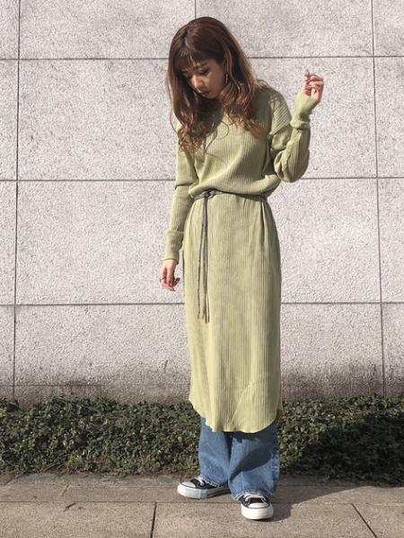 FREE'S MARTの◆ランダムテレコ前後2Wayロングカーディガンを使ったコーディネートを紹介します。|Rakuten Fashion(楽天ファッション/旧楽天ブランドアベニュー)1010423