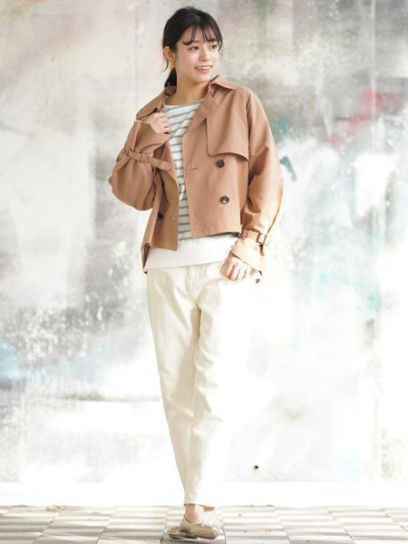 rpsの(W)リブ使いラインボーダー長袖カットプルオーバーを使ったコーディネートを紹介します。|Rakuten Fashion(楽天ファッション/旧楽天ブランドアベニュー)1011022