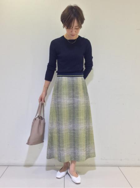 HUMAN WOMANの◆シルクストレッチリブ《RuedieualaHUMANWOMAN》を使ったコーディネートを紹介します。|Rakuten Fashion(楽天ファッション/旧楽天ブランドアベニュー)1012445