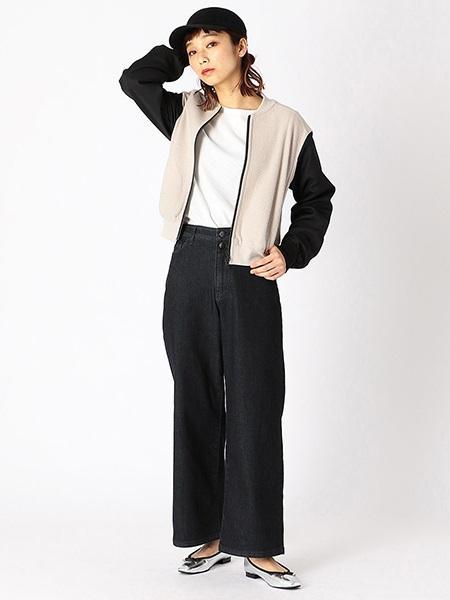 COMME CA ISMの裏毛ジャージーブルゾンを使ったコーディネートを紹介します。|Rakuten Fashion(楽天ファッション/旧楽天ブランドアベニュー)1013164