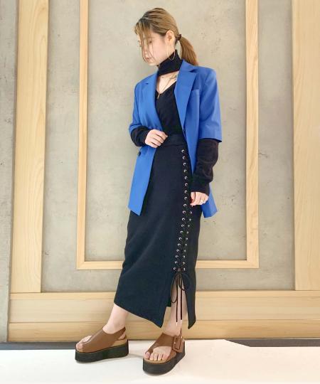grapevine by k3のG.V.G.V./(W)LACE UP JERSEY SKIRTを使ったコーディネートを紹介します。 Rakuten Fashion(楽天ファッション/旧楽天ブランドアベニュー)1013280