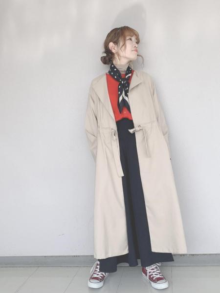 ROPE' PICNICの【花粉ガード】ガウンコートを使ったコーディネートを紹介します。|Rakuten Fashion(楽天ファッション/旧楽天ブランドアベニュー)1015249