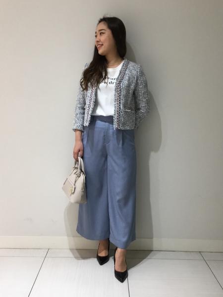 PINKY&DIANNEの◆ブレードトリミングカラーツイードジャケットを使ったコーディネートを紹介します。|Rakuten Fashion(楽天ファッション/旧楽天ブランドアベニュー)1016878