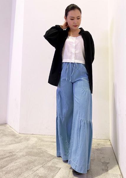 Levi'sのSIMONE TOP BRIGHT WHITEを使ったコーディネートを紹介します。|Rakuten Fashion(楽天ファッション/旧楽天ブランドアベニュー)1018036