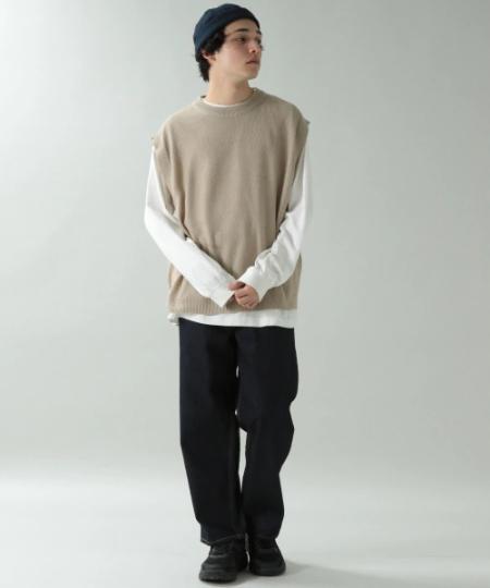 RAGEBLUEの(M)ニットベストを使ったコーディネートを紹介します。|Rakuten Fashion(楽天ファッション/旧楽天ブランドアベニュー)1018702