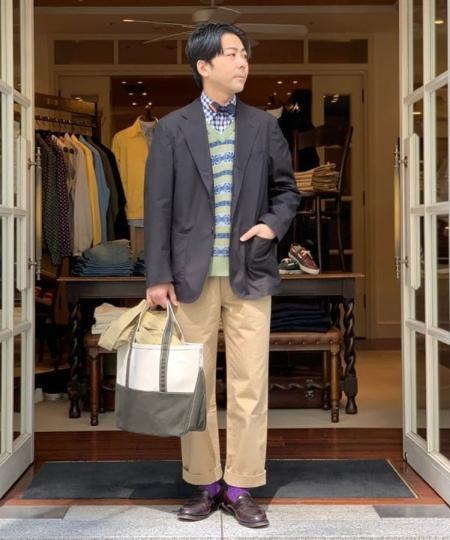 BEAMS MENのL.L.Bean × BEAMS PLUS / 別注 DEEP BOTTOM BOAT&TOTE BAG Mを使ったコーディネートを紹介します。|Rakuten Fashion(楽天ファッション/旧楽天ブランドアベニュー)1019586