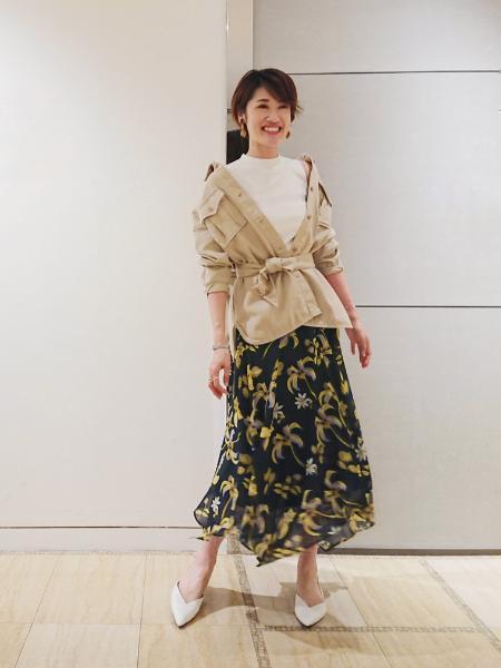 GRACE CONTINENTALのリブアシメニットノースリーブを使ったコーディネートを紹介します。|Rakuten Fashion(楽天ファッション/旧楽天ブランドアベニュー)1019643