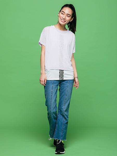 adidasの(W)W MH LAYERED Tシャツを使ったコーディネートを紹介します。 Rakuten Fashion(楽天ファッション/旧楽天ブランドアベニュー)1020177